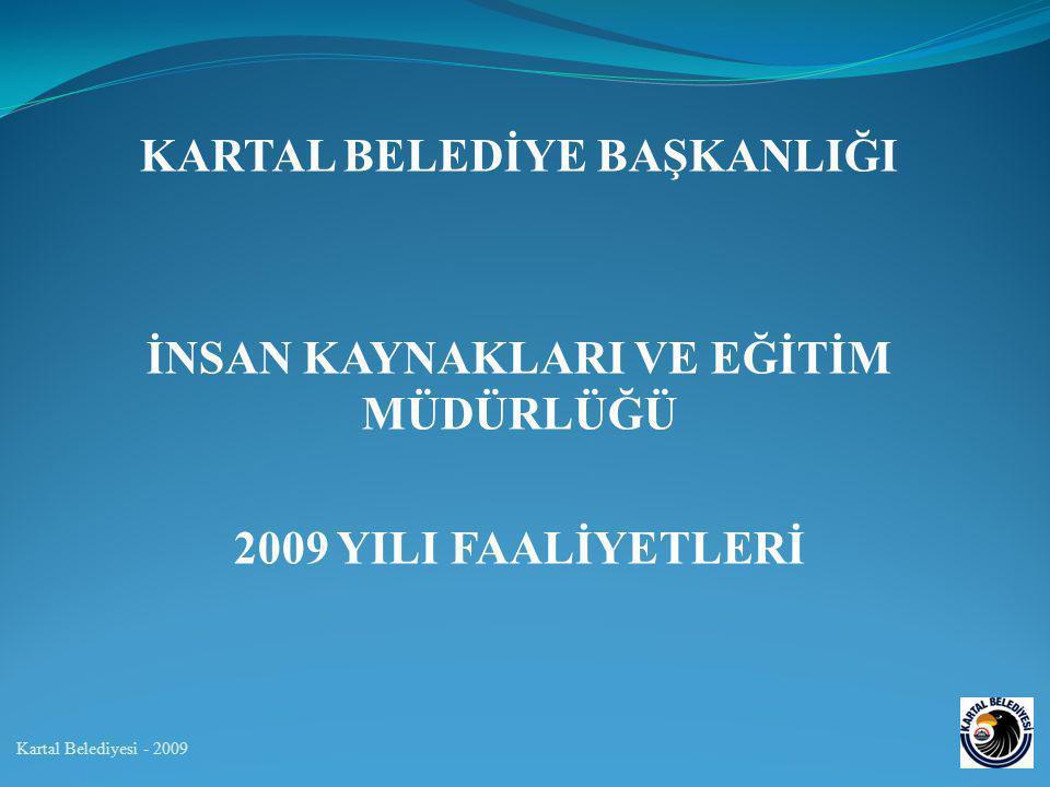 KARTAL BELEDİYE BAŞKANLIĞI İNSAN KAYNAKLARI VE EĞİTİM MÜDÜRLÜĞÜ 2009 YILI FAALİYETLERİ Kartal Belediyesi - 2009