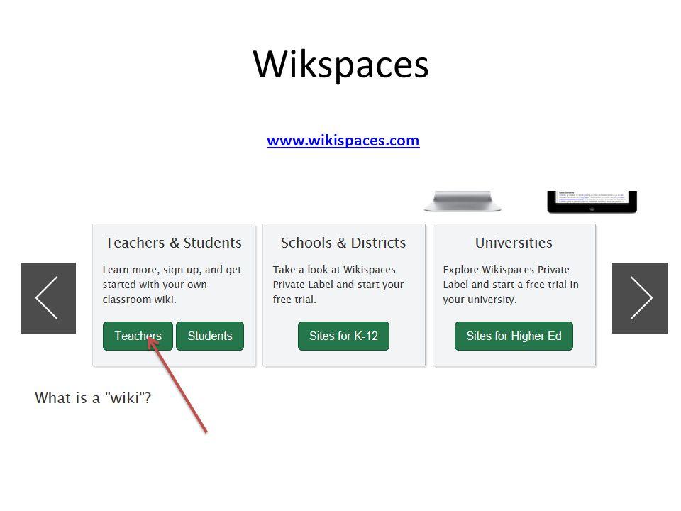 Wikspaces www.wikispaces.com