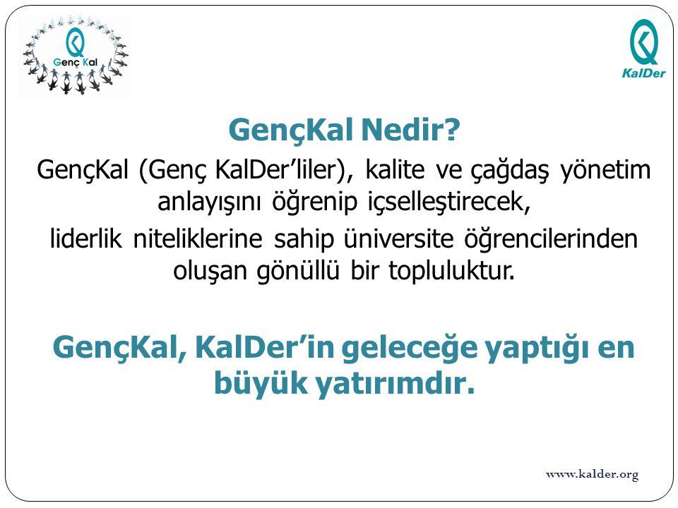 www.kalder.org GençKal Aktivitelerimiz 17 25 Şubat 2014 tarihinde Marmara Üniversitesi Çalışma Ekonomisi ve Endüstri İlişkileri Kulübü'nün davetlisi olarak katıldığımız seminerde, Toplam Kalite ve Mükemmellik Modelleri ile ilgili sunumu Türkiye Mükemmellik Ödülü Sektererimiz Berçin Gün gerçekleştirdi.