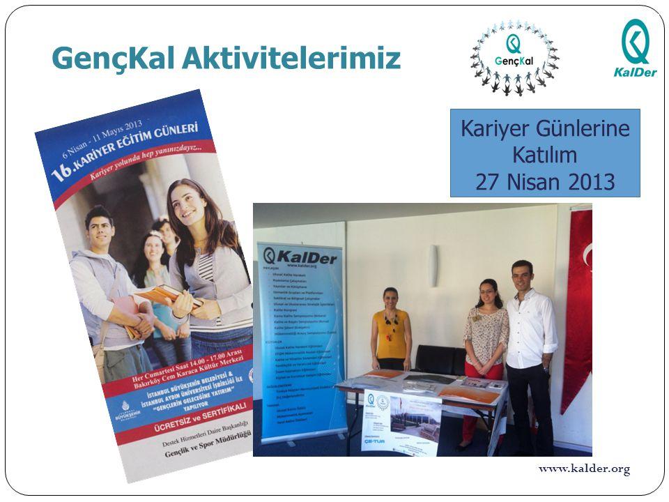 www.kalder.org GençKal Aktivitelerimiz 10 Viko Elektrik A.Ş. Fabrika Ziyareti 30 Nisan 2013