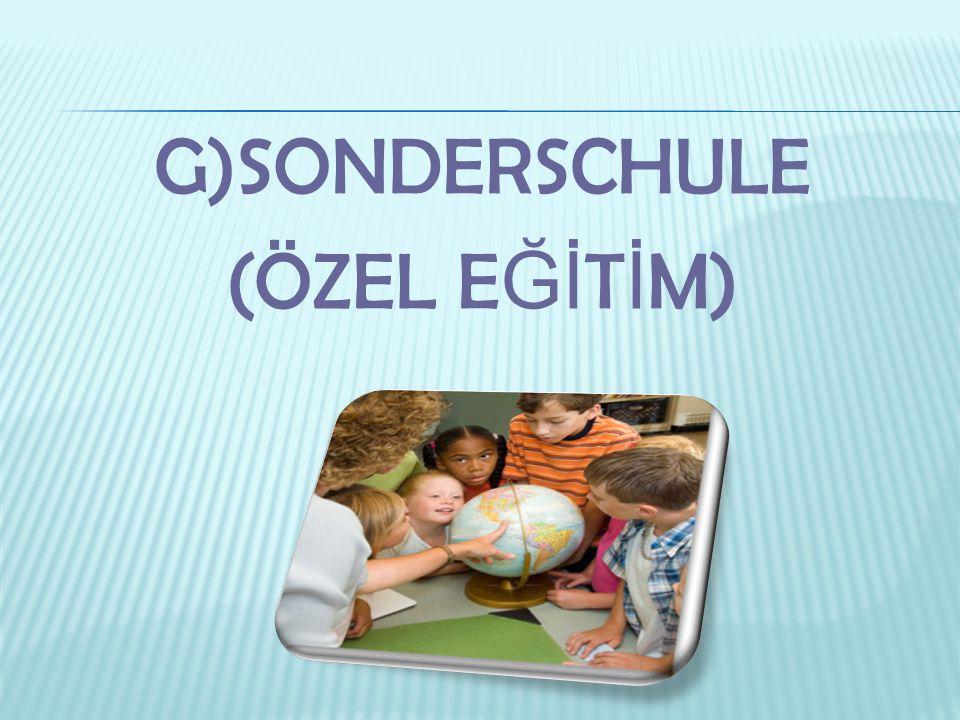 G)SONDERSCHULE (ÖZEL E Ğİ T İ M)