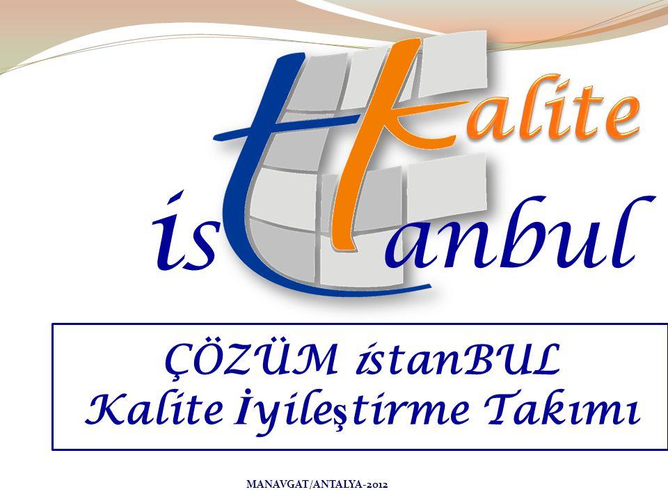 isis anbul ÇÖZÜM istanBUL Kalite İ yile ş tirme Takımı MANAVGAT/ANTALYA-2012