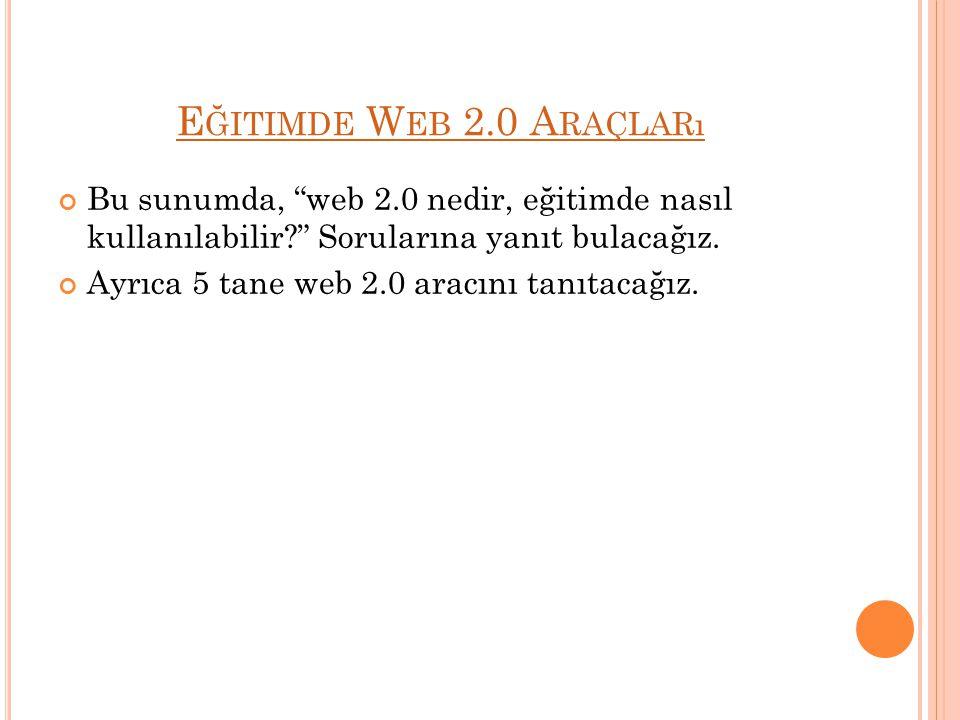 W EB 2.0 N EDIR .