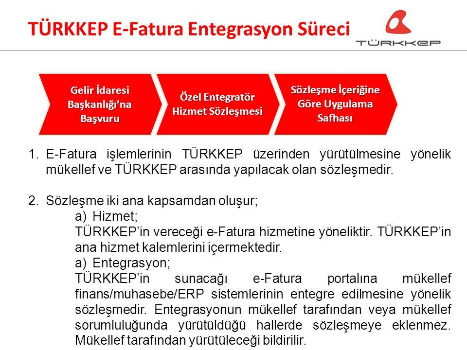 1.E-Fatura işlemlerinin TÜRKKEP üzerinden yürütülmesine yönelik mükellef ve TÜRKKEP arasında yapılacak olan sözleşmedir.