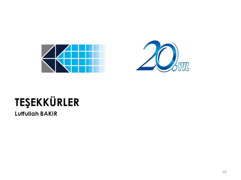 60 TEŞEKKÜRLER Lutfullah BAKIR