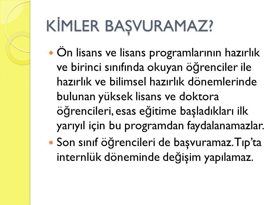 K İ MLER BAŞVURAMAZ.