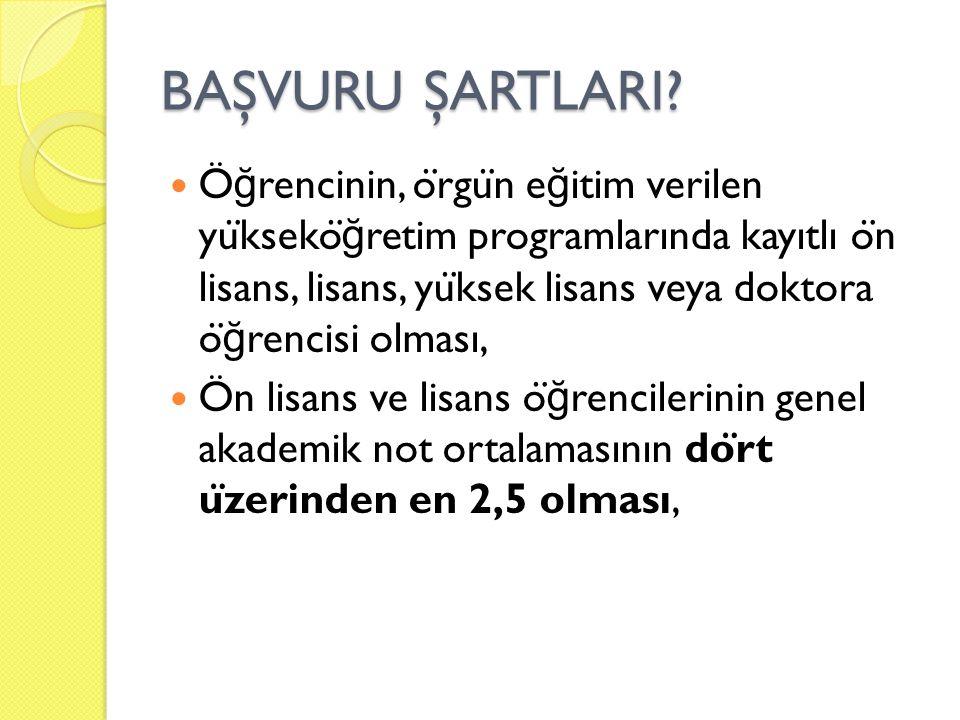BAŞVURU ŞARTLARI.