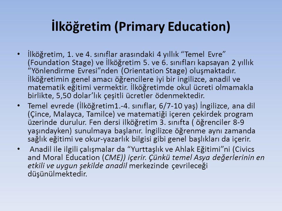 İlköğretim (Primary Education) • İlköğretim, 1.ve 4.