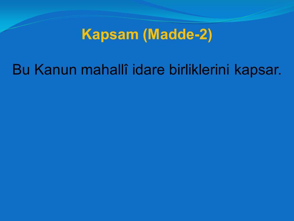 Birlik Başkanı (Madde-14) - 1 Birlik başkanı, birlik idaresinin başı ve tüzel kişiliğinin temsilcisidir.