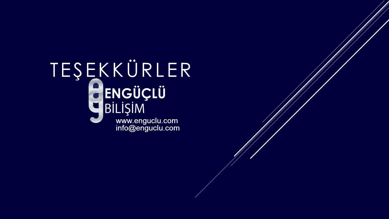 www.enguclu.com info@enguclu.com TEŞEKKÜRLER