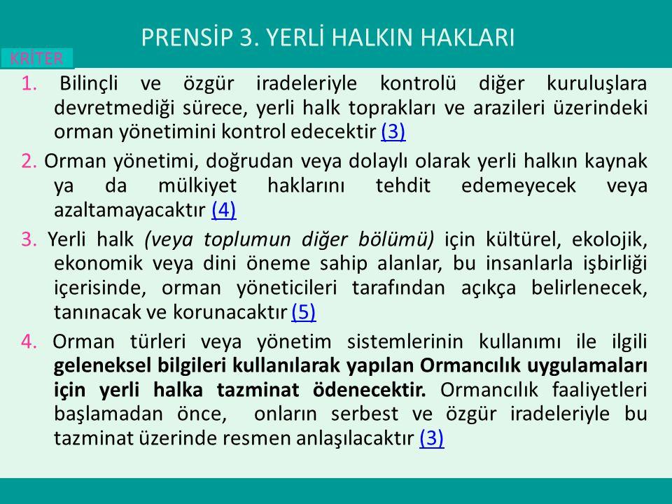 PRENSİP 3.YERLİ HALKIN HAKLARI 1.