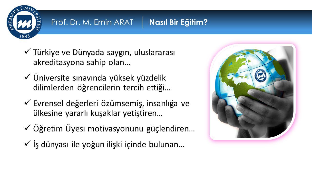  Türkiye ve Dünyada saygın, uluslararası akreditasyona sahip olan…  Üniversite sınavında yüksek yüzdelik dilimlerden öğrencilerin tercih ettiği…  E