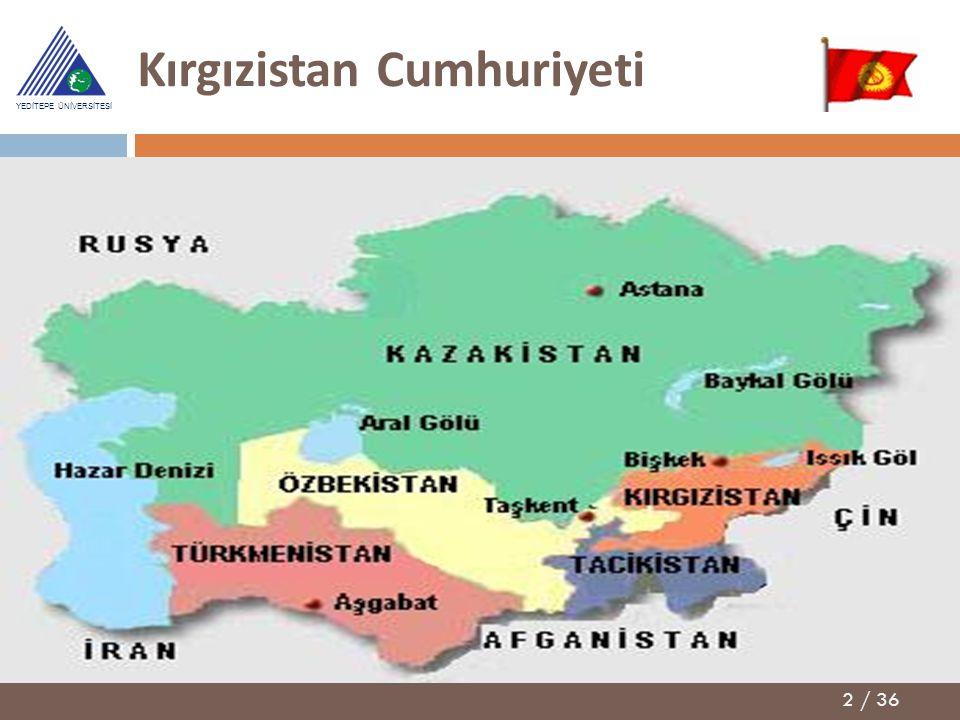 2 / 36 YEDİTEPE ÜNİVERSİTESİ Kırgızistan Cumhuriyeti