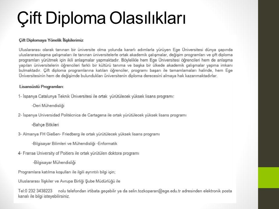 Çift Diploma Olasılıkları