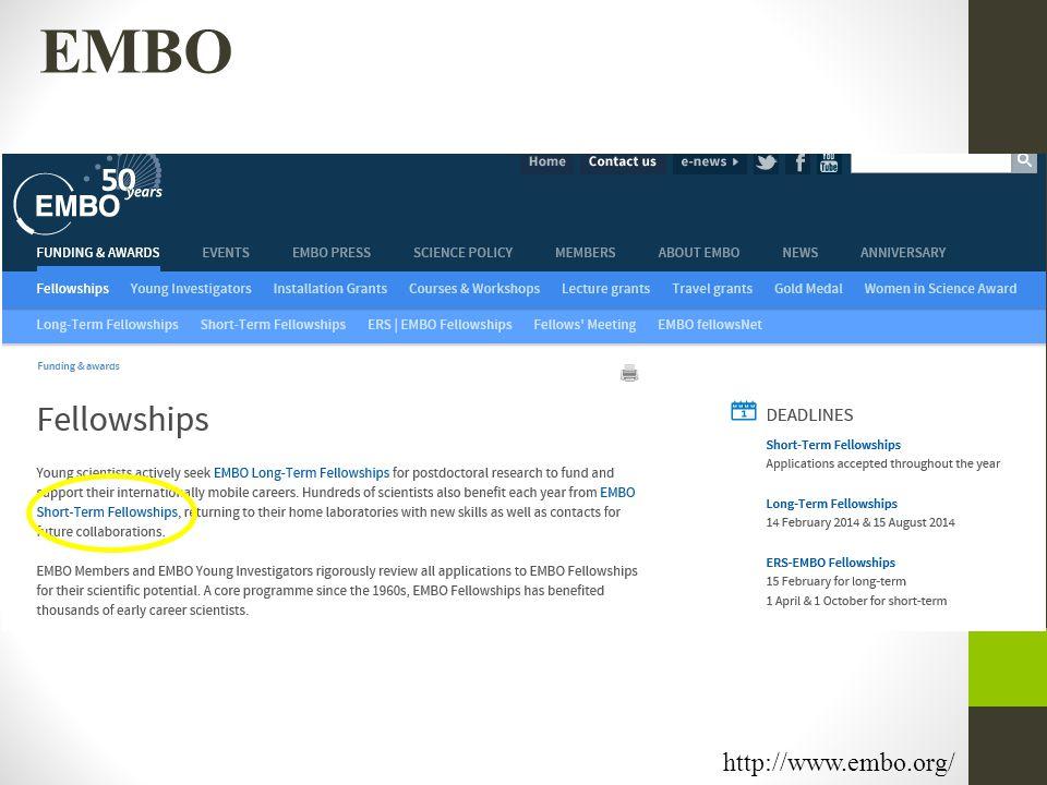 EMBO http://www.embo.org/