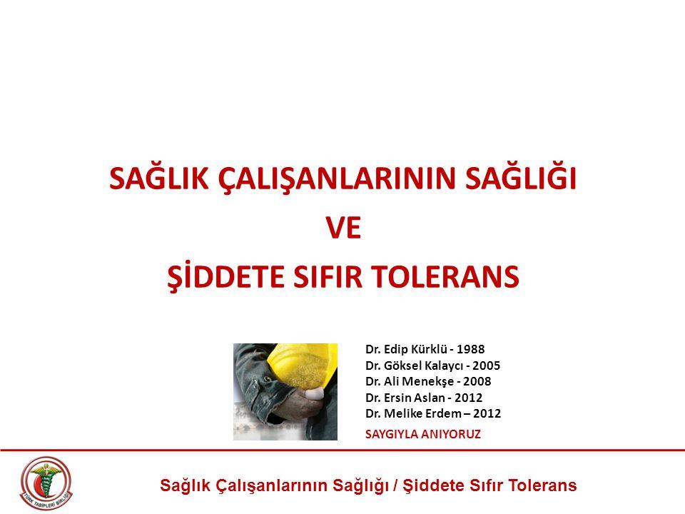 Sağlık Çalışanlarının Sağlığı / Şiddete Sıfır Tolerans Sağlık Bakanı Recep Akdağ 27 Ocak 2011 / MediMagazin Şimdi şiddet arttı mı, artıyor mu.
