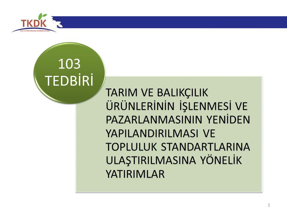 24 103-1 Uygun Harcama Tutarı %50 KAMU KATKISI (AB+TC) %50 FAYDALANICI Destek, uygun harcama tutarının %50 sidir.