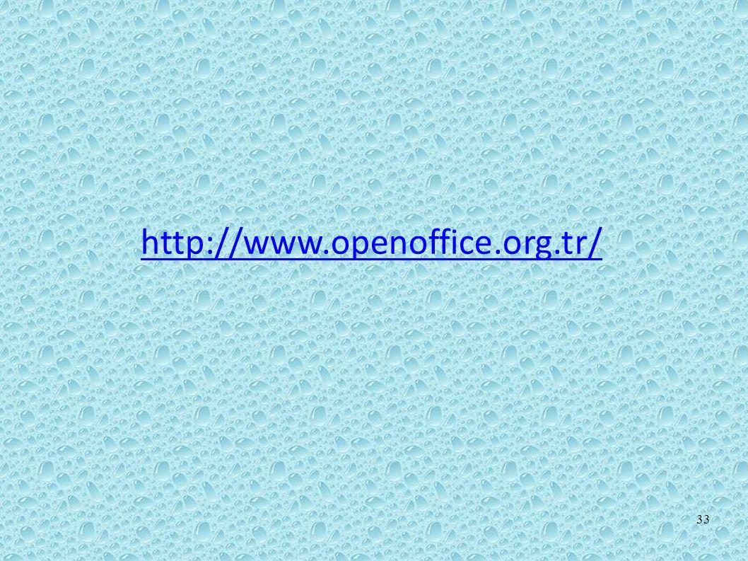 http://www.openoffice.org.tr/ 33