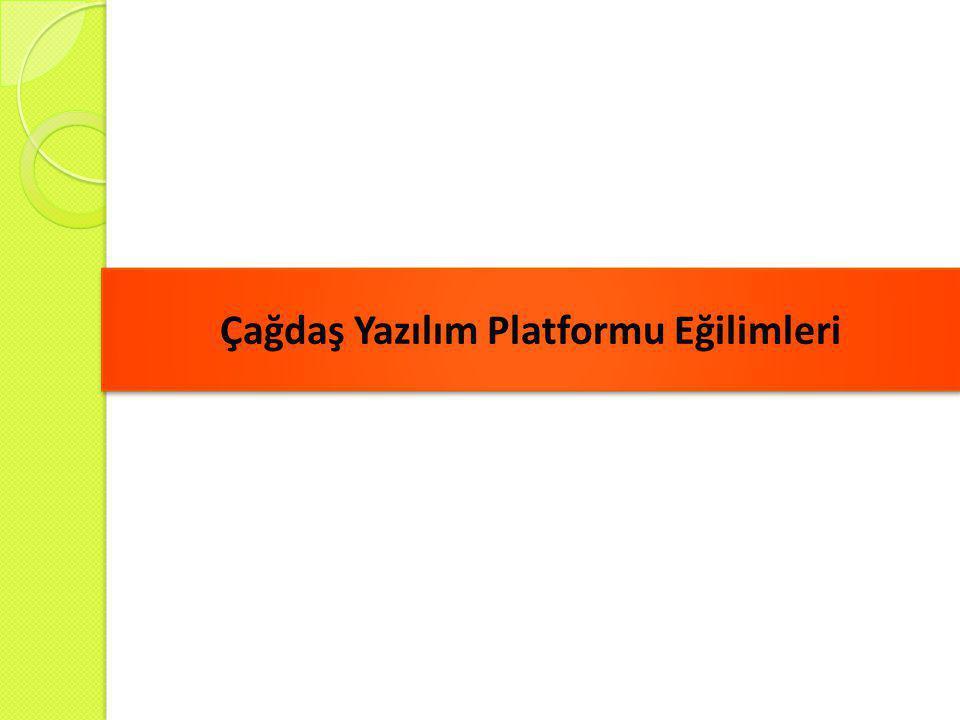 Çağdaş Yazılım Platformu Eğilimleri