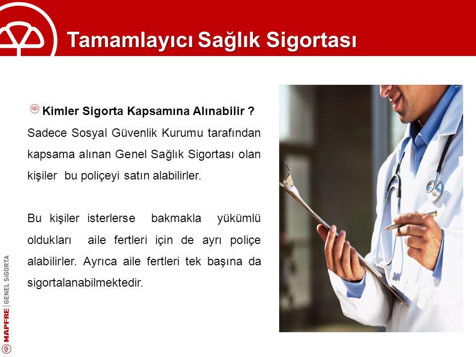 Tamamlayıcı Sağlık Sigortası Bekleme Süresi // Kazanılmış Haklar Sosyal Güvenlik Kurumu tarafından uygulanan bekleme süreleri (SGK ilk kayıt itibariyle 30 gün) haricinde bu poliçede herhangi bir bekleme süresi uygulanmaz.
