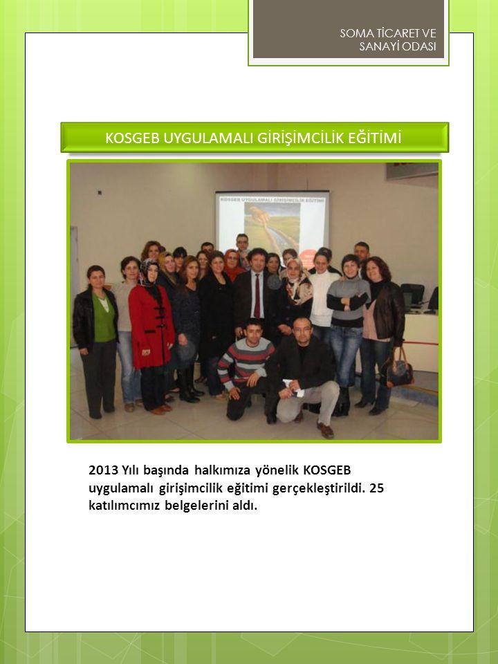 KOSGEB UYGULAMALI GİRİŞİMCİLİK EĞİTİMİ 2013 Yılı başında halkımıza yönelik KOSGEB uygulamalı girişimcilik eğitimi gerçekleştirildi.