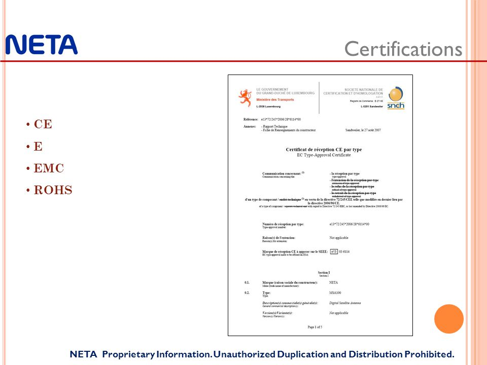 Certifications NETA Proprietary Information. Unauthorized Duplication and Distribution Prohibited.