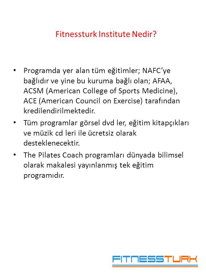 • Programda yer alan tüm eğitimler; NAFC'ye bağlıdır ve yine bu kuruma bağlı olan; AFAA, ACSM (American College of Sports Medicine), ACE (American Cou