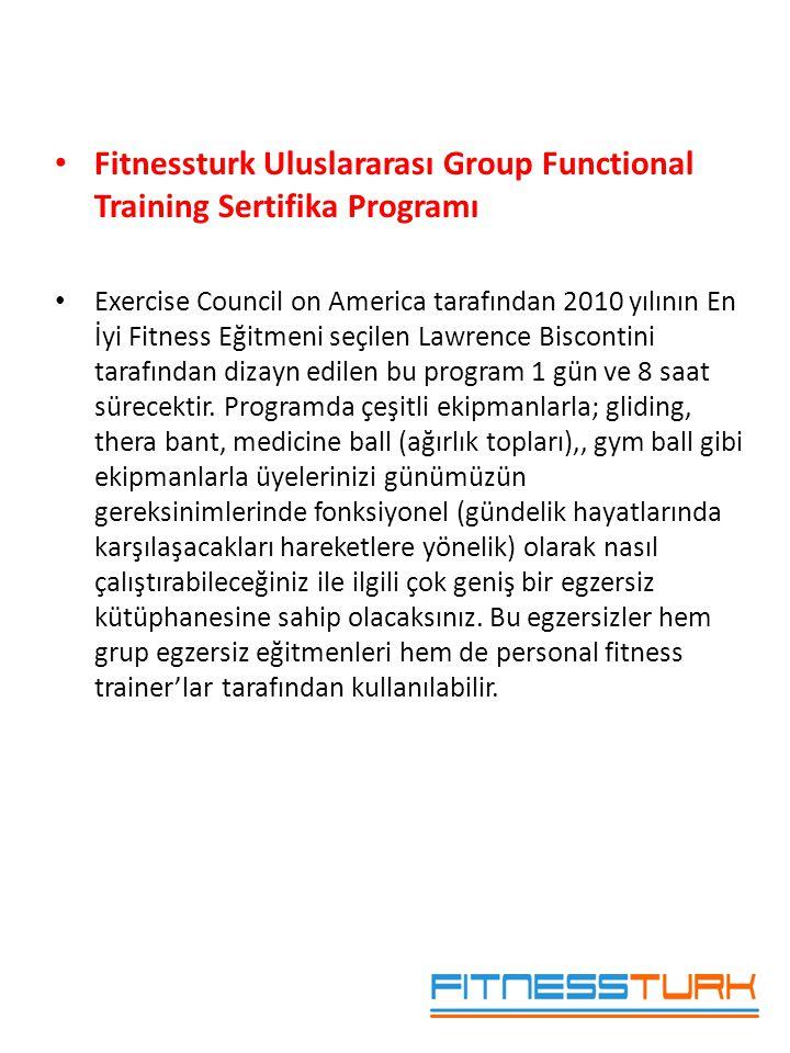 • Fitnessturk Uluslararası Group Functional Training Sertifika Programı • Exercise Council on America tarafından 2010 yılının En İyi Fitness Eğitmeni