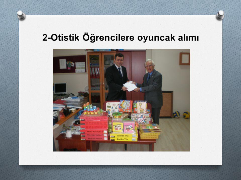2-Otistik Öğrencilere oyuncak alımı
