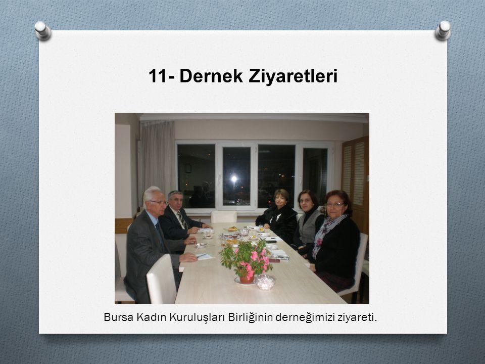 11- Dernek Ziyaretleri Bursa Kadın Kuruluşları Birliğinin derneğimizi ziyareti.