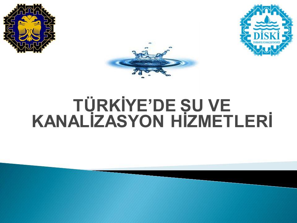 TÜRKİYE'DE SU VE KANALİZASYON HİZMETLERİ