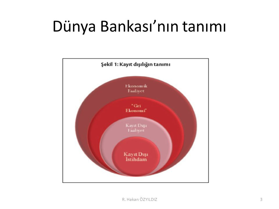 Dünya Bankası'nın tanımı R. Hakan ÖZYILDIZ3