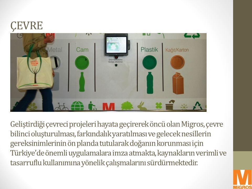 ÇEVRE Geliştirdiği çevreci projeleri hayata geçirerek öncü olan Migros, çevre bilinci oluşturulması, farkındalık yaratılması ve gelecek nesillerin ger
