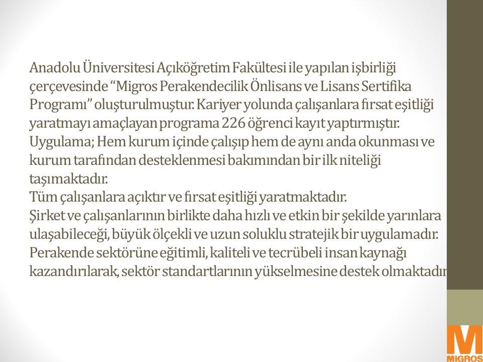 """Anadolu Üniversitesi Açıköğretim Fakültesi ile yapılan işbirliği çerçevesinde """"Migros Perakendecilik Önlisans ve Lisans Sertifika Programı"""" oluşturulm"""