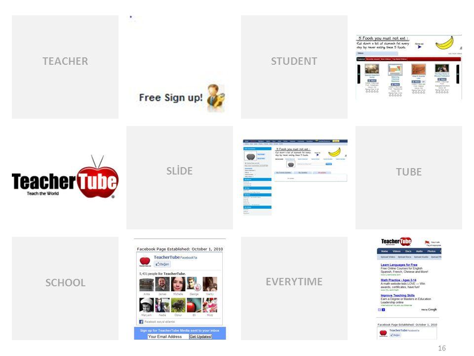 EVERYTIME STUDENT TEACHER SLİDE TUBE SCHOOL 16