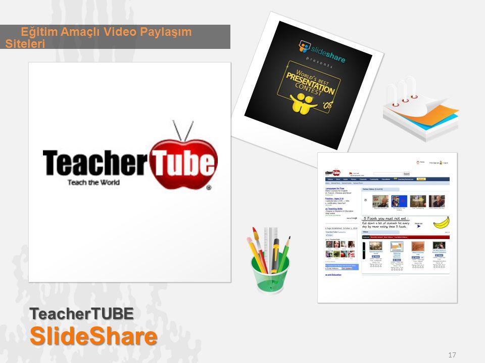 TeacherTUBESlideShare Eğitim Amaçlı Video Paylaşım Siteleri 17
