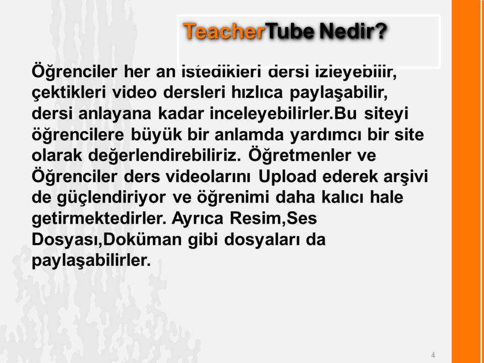 Öğrenciler her an istedikleri dersi izleyebilir, çektikleri video dersleri hızlıca paylaşabilir, dersi anlayana kadar inceleyebilirler.Bu siteyi öğrencilere büyük bir anlamda yardımcı bir site olarak değerlendirebiliriz.