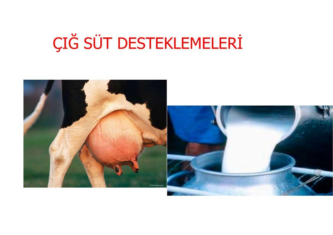 200020052010 Üretim Miktarı (milyon Ton) Oranı (%) Üretim Miktarı (milyon Ton) Oranı (%) Üretim Miktarı (milyon Ton) Oranı (%) İnek sütü 49184,8054884,0560283,50 Manda sütü 6711,578012,279312,90 Keçi Sütü 132,25152,30162,22 Koyun Sütü 81,389 101,39 Toplam 579100652100721100 DÜNYADA SÜT ÜRETİMİ AYRINTI (2000 – 2010)