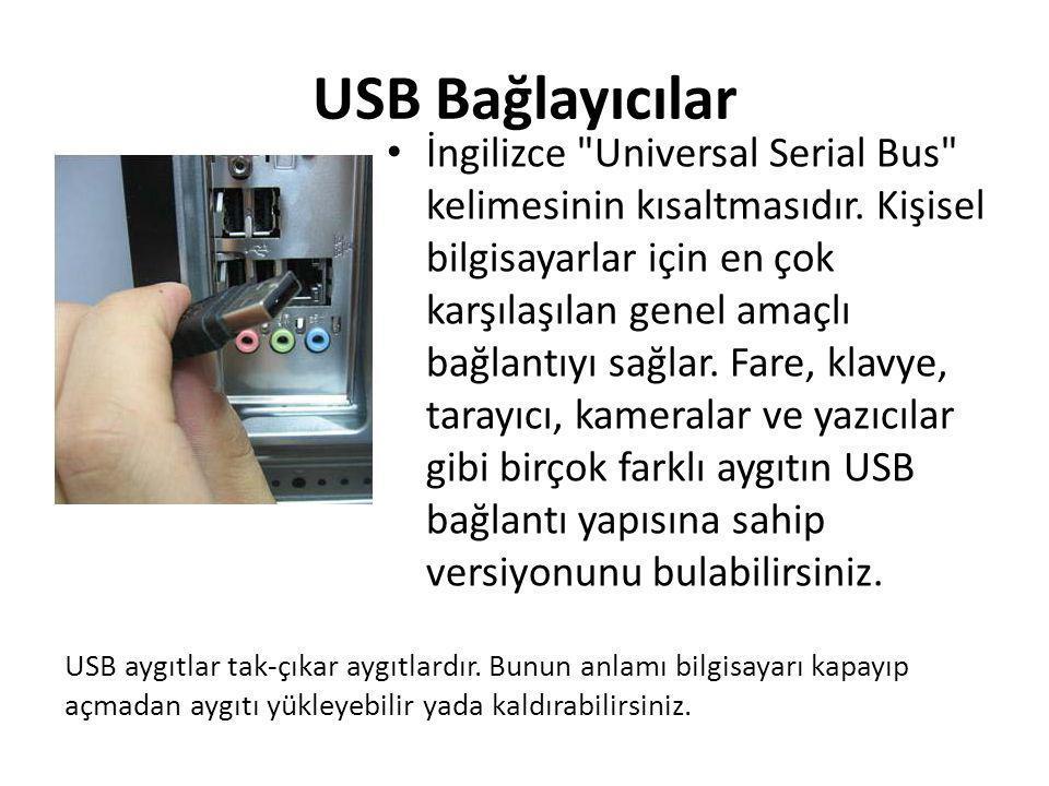 USB Bağlayıcılar • İngilizce