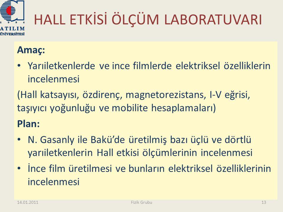 HALL ETKİSİ ÖLÇÜM LABORATUVARI Amaç: • Yarıiletkenlerde ve ince filmlerde elektriksel özelliklerin incelenmesi (Hall katsayısı, özdirenç, magnetorezis