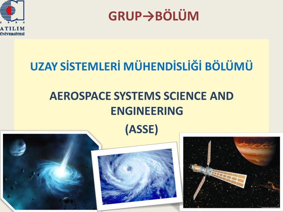 GRUP→BÖLÜM UZAY SİSTEMLERİ MÜHENDİSLİĞİ BÖLÜMÜ AEROSPACE SYSTEMS SCIENCE AND ENGINEERING (ASSE) 14.01.2011Fizik Grubu22