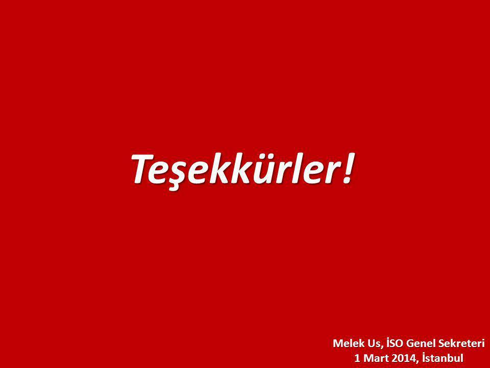 Melek Us, İSO Genel Sekreteri 1 Mart 2014, İstanbul Teşekkürler!