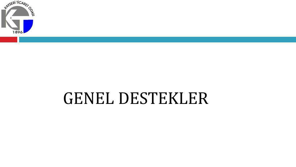 GENEL DESTEKLER