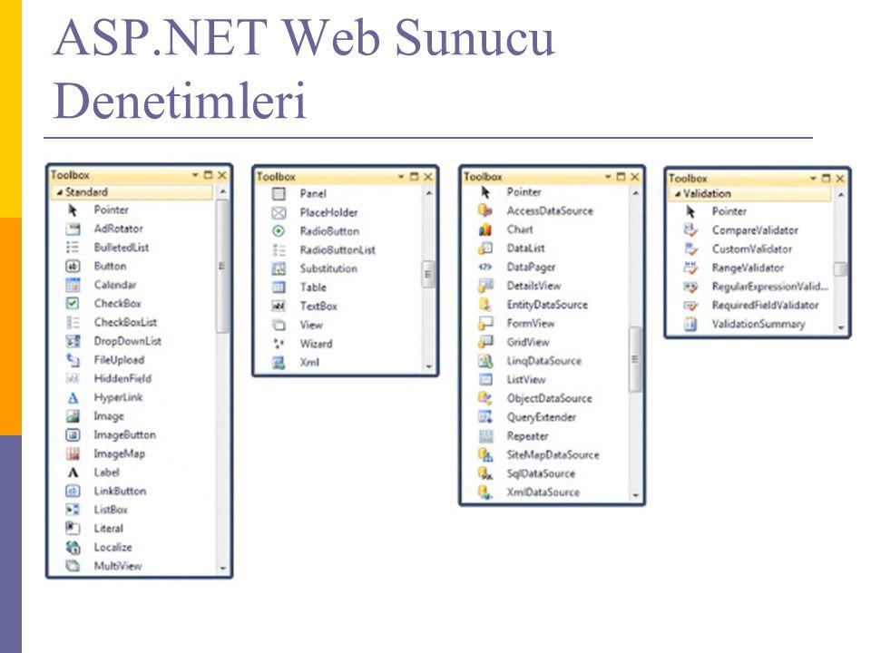 ASP.NET Web Sunucu Denetimleri