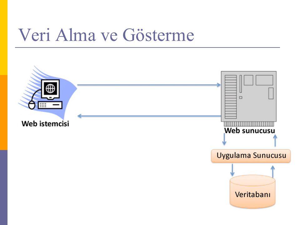Veri Giriş Sistemi - 2  DetailsView kontrolunun kullanımı (alt-sift-enter tam sayfa)  Auto Format, ItemStyle, HeaderStyle (koddan ve design üzerinden)  DetailsView kontrolü ile veri eklemek  Başlık bilgilerini değiştir  Enable inserting  DetailsView Properties -> DefaultMode (F4)  Sayfa isteklerini yönlendirme  HyperLink kontrolu  DetailsViewInsertedEventArgs  DetailsViewCommandEventArgs  Güncelleme sayfası oluşturmak  SelectParameters asp:QueryStringParameter  Liste sayfasına add new column parametre girişi  Veritabanından kayıt silmek  GridView'da Enable deleting