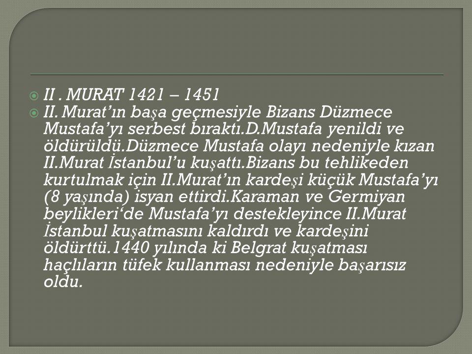  II.MURAT 1421 – 1451  II.