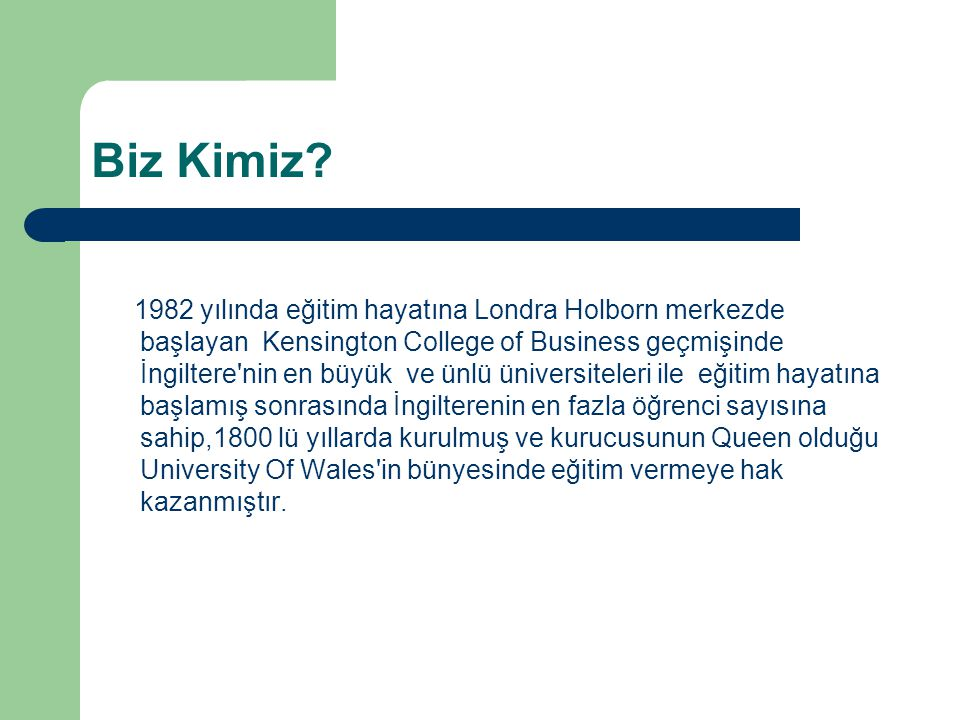 Neden Kensington College Of Business.