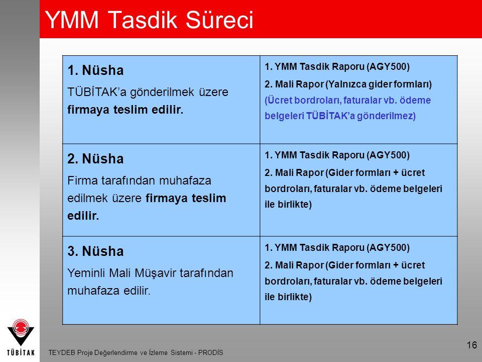 TEYDEB Proje Değerlendirme ve İzleme Sistemi - PRODİS 17 Soru / Cevap Teşekkürler TÜBİTAK TEYDEB Web Adresi : http://www.tubitak.gov.tr/teydeb Uygulama Web Adresi : http://eteydeb.tubitak.gov.tr Soru ve Sorunlar İçin İletişim Adresi : prodis@tubitak.gov.tr