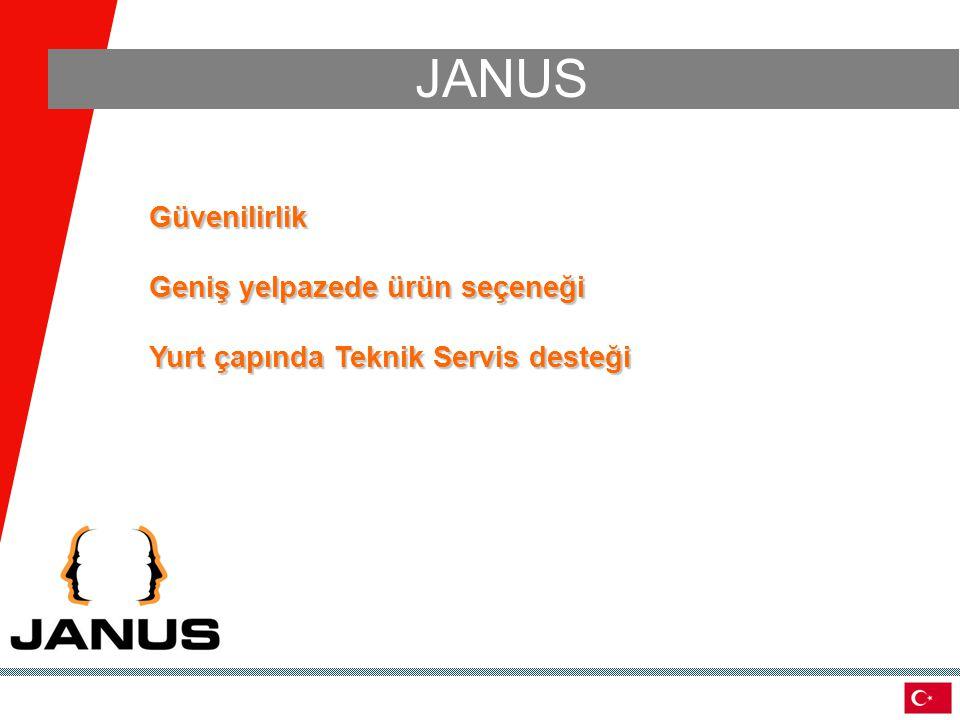 JANUS Güvenilirlik Geniş yelpazede ürün seçeneği Yurt çapında Teknik Servis desteği