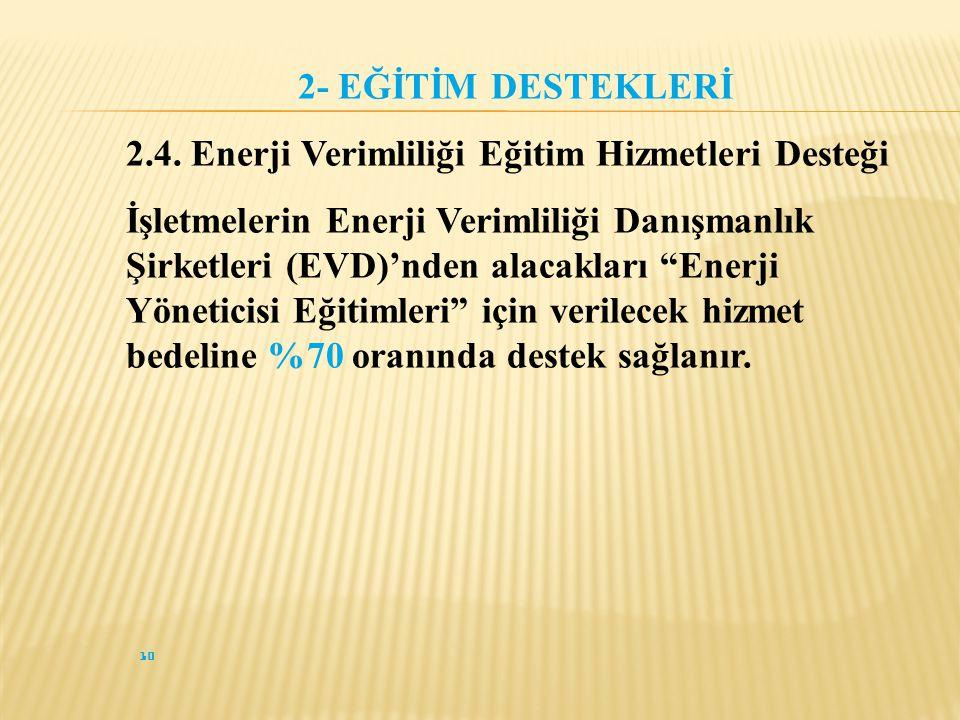 10 2- EĞİTİM DESTEKLERİ 2.4.